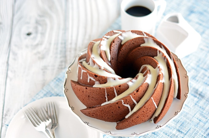 Healthier Chocolate Coffee Cake