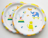 Large Circus Paper Plates - Set of 12 Cakegirls