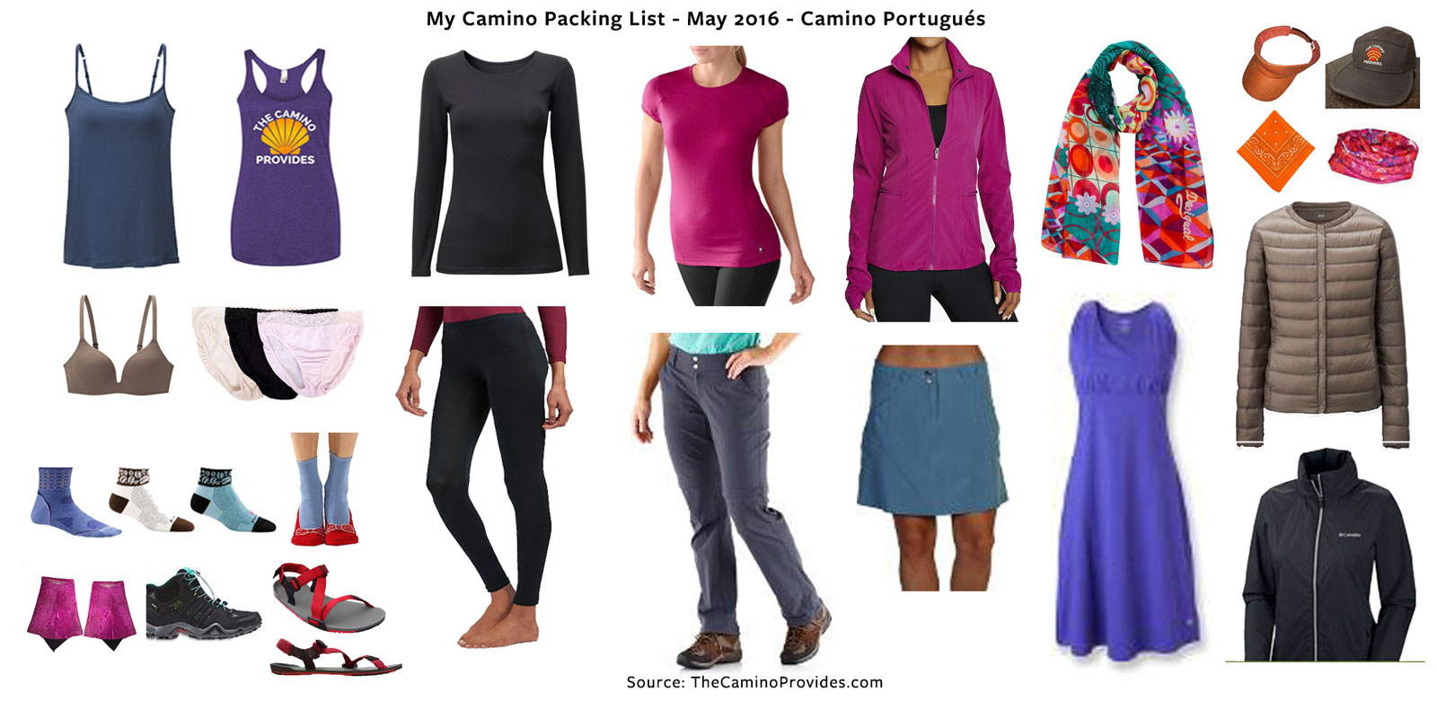 Camino Santiago Packing List My Camino Packing List Part 1 Apparel The Camino Provides