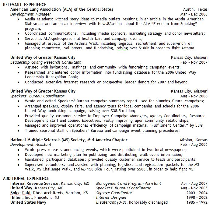 How should I show transitional employment on my resume? - The Campus - Relevant Experience Resume
