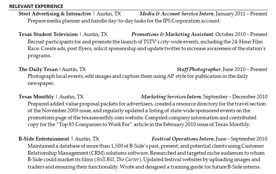 Format A Professional Resume