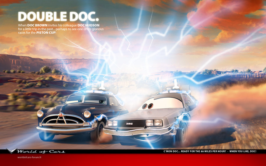 Street Racing Cars Wallpaper With Girls Happy 30th Anniversary Back To The Future Thecanadiantechie