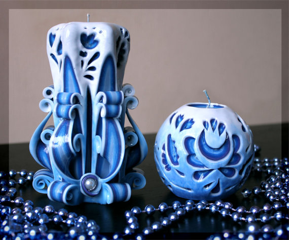 unique-creative-blue-candle