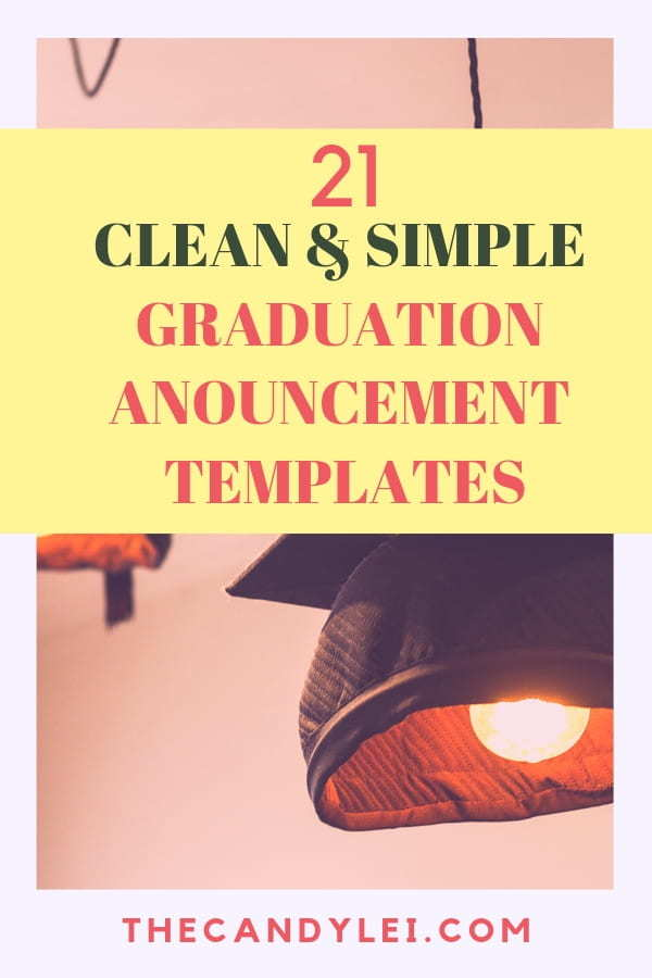 21 Elegant and Simple Graduation Announcement Templates - The Candy Lei