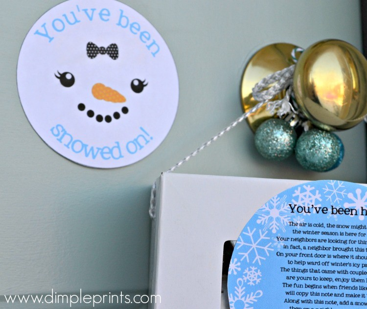 You've Been Snowed on Girl Snowman Print