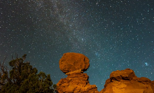 Milky Way Over Balanced Rock II