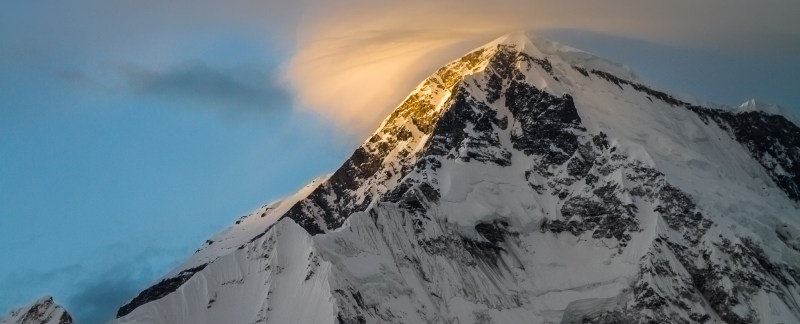 Sunset On Cho Oyu And Clouds, Nepal