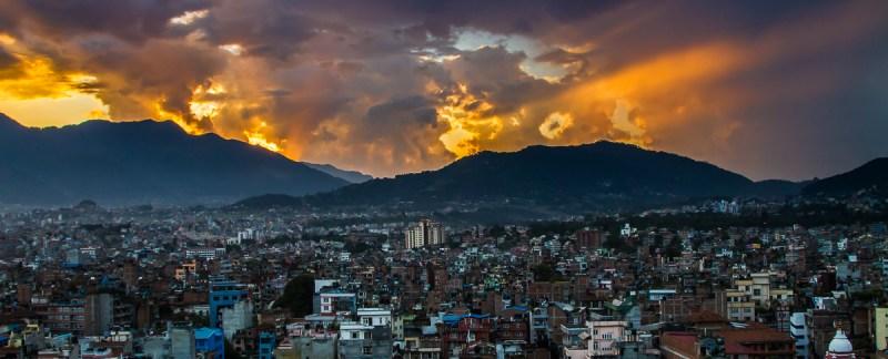 Sunset, Kathmandu, Nepal