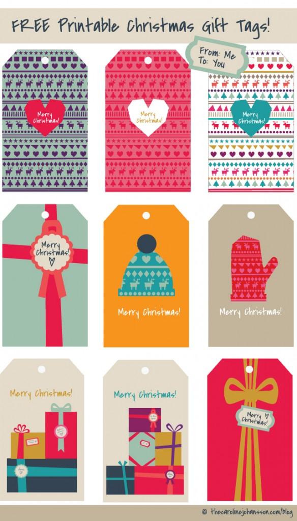 Free Printable Gift Tags thecarolinejohansson