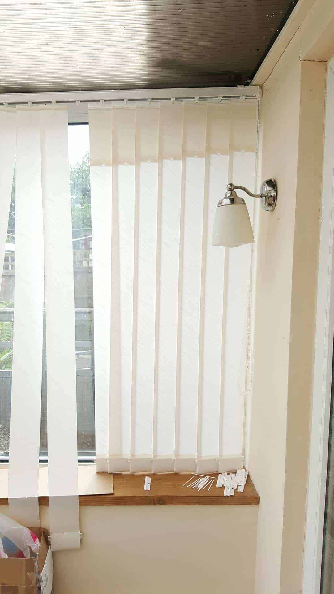 Diy Vertical Blinds Fit Your Own Easy Sloping Window Vertical Blinds And Save