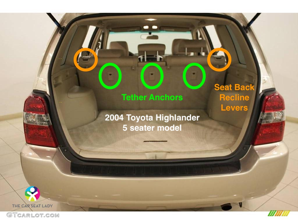 Rear Facing Car Seat Model 3 The Car Seat Lady – Toyota Highlander
