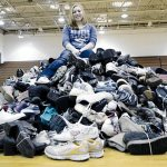 Claire Frances Baker, a ninth-grader at Totino-Grace High School in Fridley, has been collecting shoes for an orphanage in Haiti since an earthquake hit there in 2010. Jim Bovin / For The Catholic Spirit