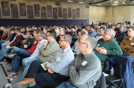 The men gathered for the annual conference listened to Archbishop John Nienstedt talk about what it takes to be a good dad. He said that the priorities in life should be God first, then wife, children and job.