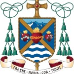 Coat of arms shows devotion to Jesus, Mary and Joseph