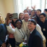 World Youth Day volunteers quiz pope, get advice during special luncheon