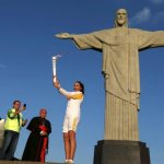 At Rio's Christ the Redeemer statue, cardinal blesses Olympic torch