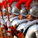 Devil, not invaders, biggest enemy at hand, pope tells Swiss Guard