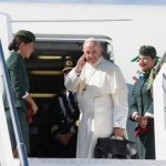 Flying to Colombia, pope asks prayers for Venezuela