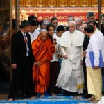 Buddhists, Christians must reclaim values that lead to peace, pope says