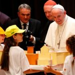 Pope shares childhood memories with Italian children