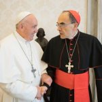 French cardinal, convicted of abuse cover-up, meets pope