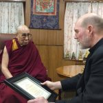 Iowa bishop presents coalition's Pacem award to Dalai Lama in India