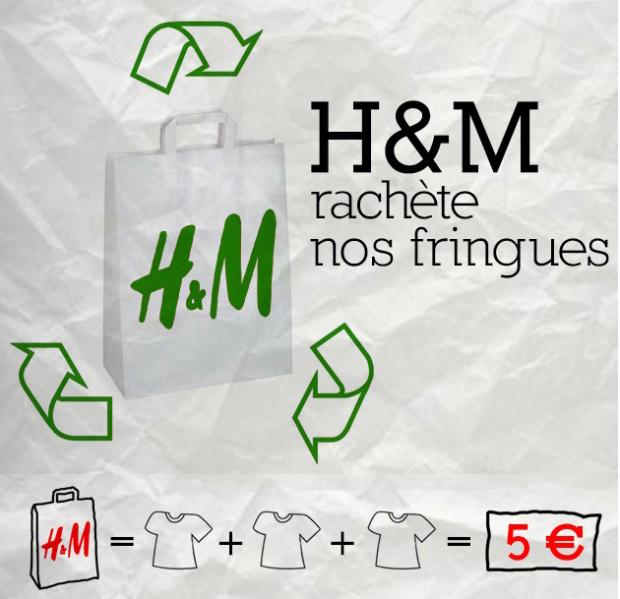 Bon plan : H&M collecte toujours les vêtements usagés