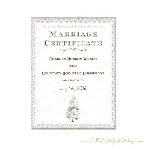 Design 46 \u2013 Fancy Pine \u2013 The Certificate Shop
