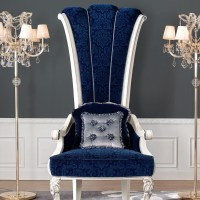 Churchill Upholstered Throne Chair | The Chair Market