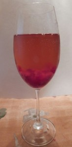 Wine Spritzer made with Cranberry, your favorite white wine and topped with seltzer.
