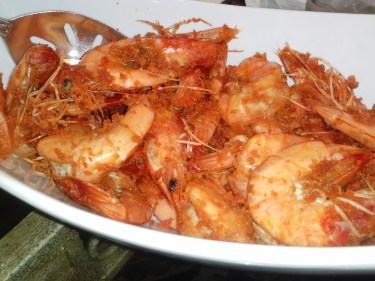 Shrimp in an oyster sauce