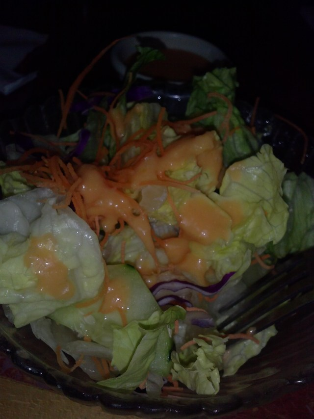 Garden Salad with a Miso-Ginger dressing at U-Sushi in Pembroke Pines