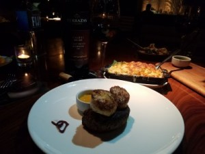Filet with Seared scallops STK