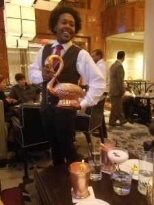 Our waiter extraordinaire, Esou