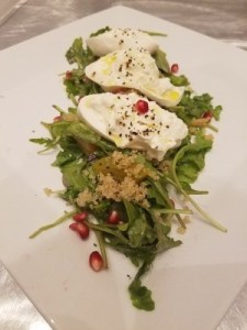 Burratta topped salad
