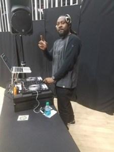 DJ providing the soundtrack for the night