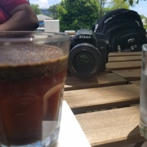 coffee and camera at Gilly's Brew Bar