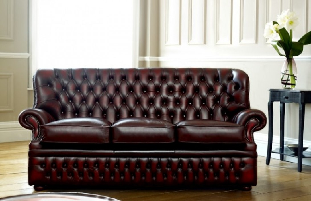 High Back Sofas Office Monks Red Chesterfield | The Chesterfield Company
