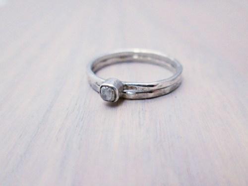 Medium Of Raw Diamond Ring