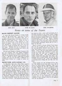 1964 Kyalami 9 Hours Program Driver info
