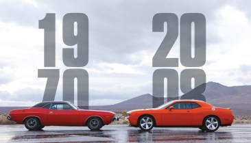 1970 and 2008 Dodge Challengers