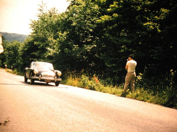 MGA at Ole Smokey Hill Climb. Lowellville, OH. 1960.