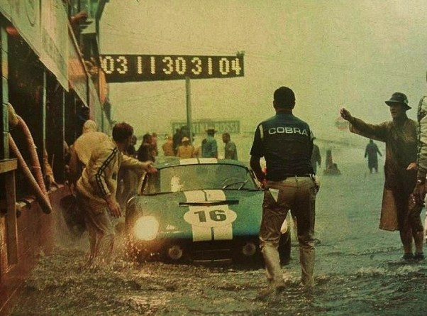 Daytona Cobra in the pits at the 1965 Sebring