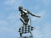 Statue atop the Borg-Warner Trophy