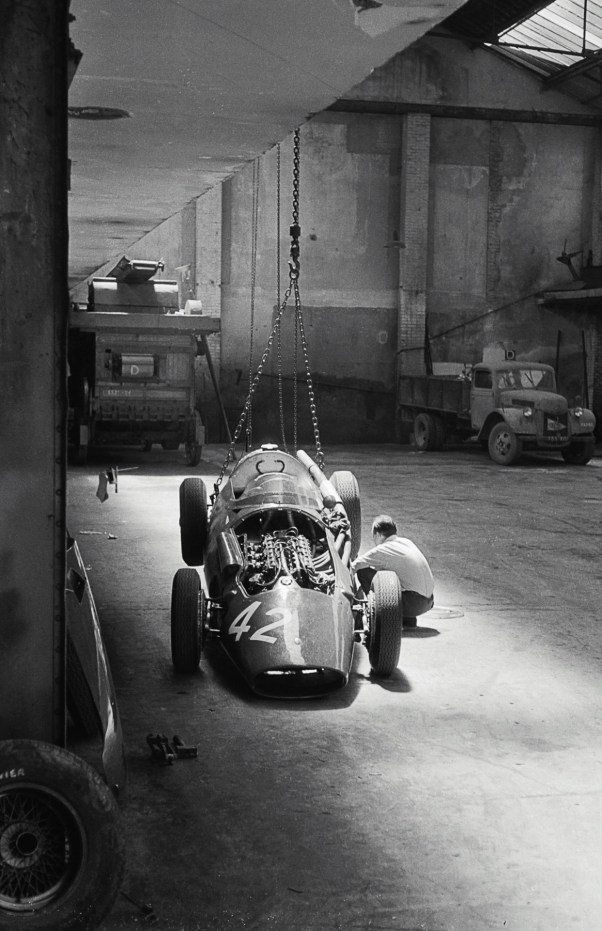 Maserati 250F in the workshop