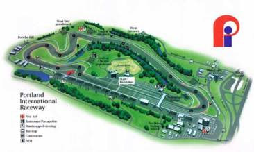 Portland International Raceway Track Map