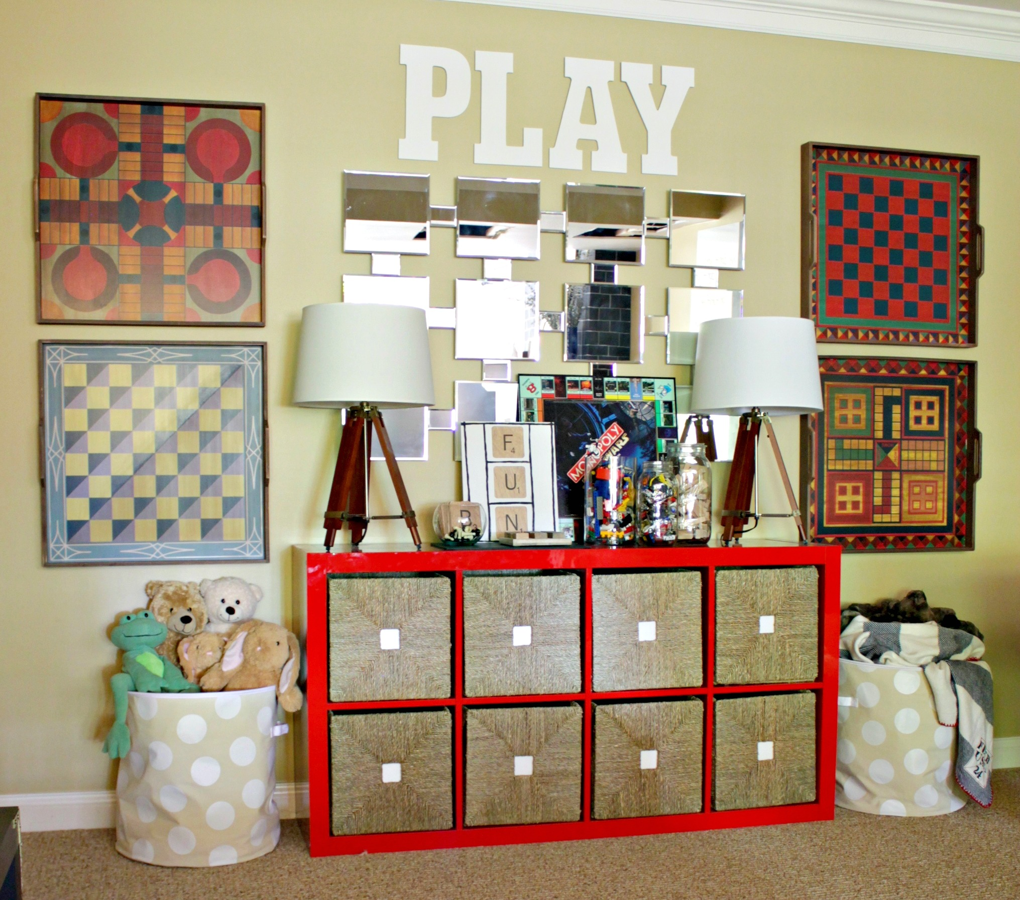 Decorative Game Boards Decorating With Kids Toys The Chic Site