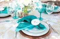 Teal Table Settings & Teal Wedding Centerpiece Ideas