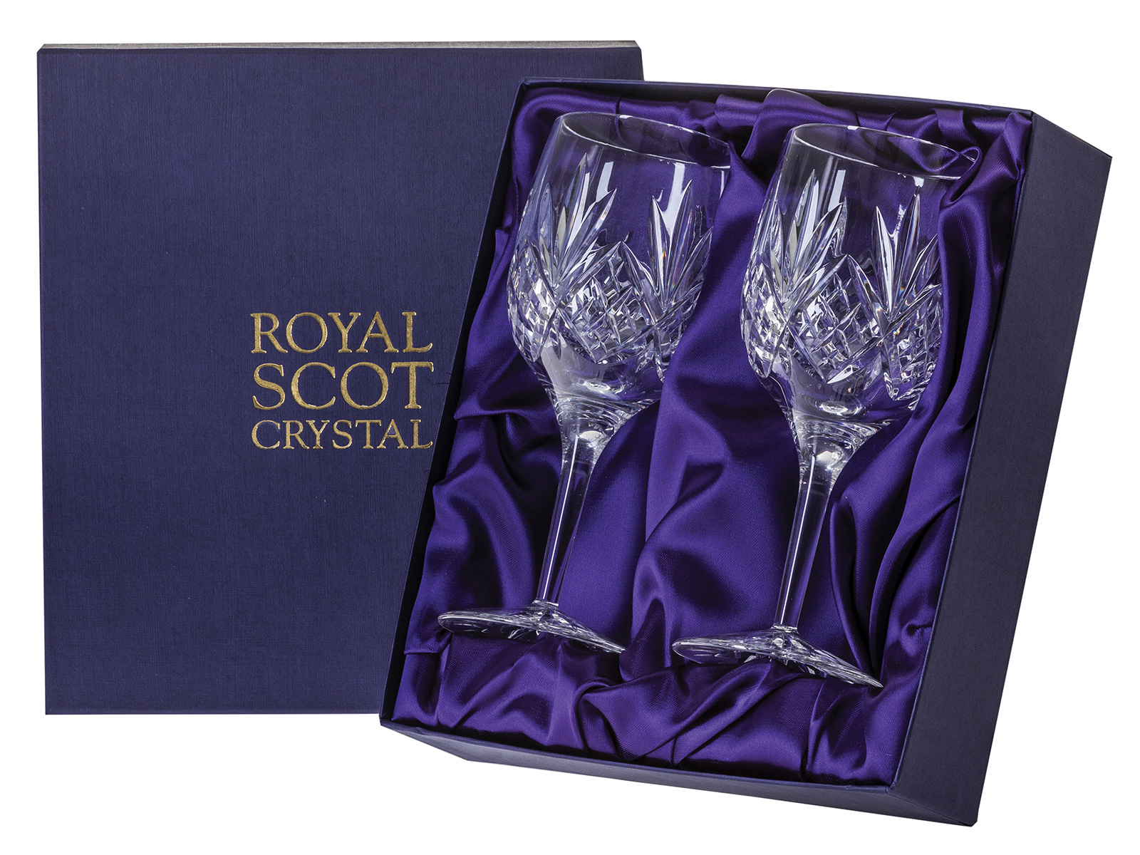 Large Crystal Wine Glasses Royal Scot Highland Large Crystal Wine Glasses Pair