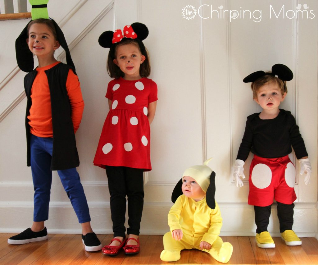 Baby Faschingskostüm Selber Machen Easy Diy Mickey And Pals Costumes The Chirping Moms